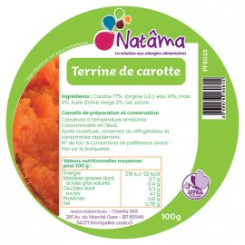 PROMO 30% - Carrot terrine - Use by 28/12/18