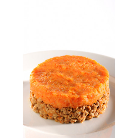 Minced beef and carrot puree junior